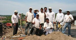Irrigation staff working on a project