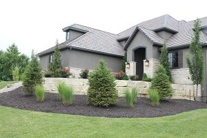 landscaping at front yard of residential home