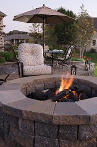 outdoor fire pit in residential area