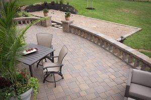 outdoor patio with sand pit