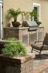 residential outdoor kitchen area