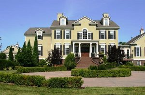 front yard landscaping in residential home