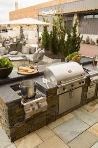 barbecue kitchen grill and outdoor area