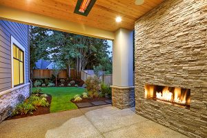 patio with fire pit