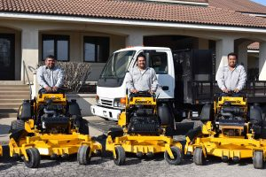 staff with landscape equipment